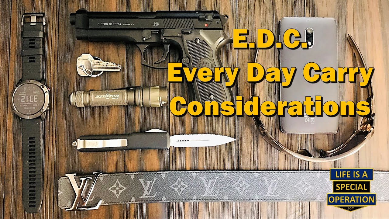 What's in your EDC?  Every Day Carry Considerations