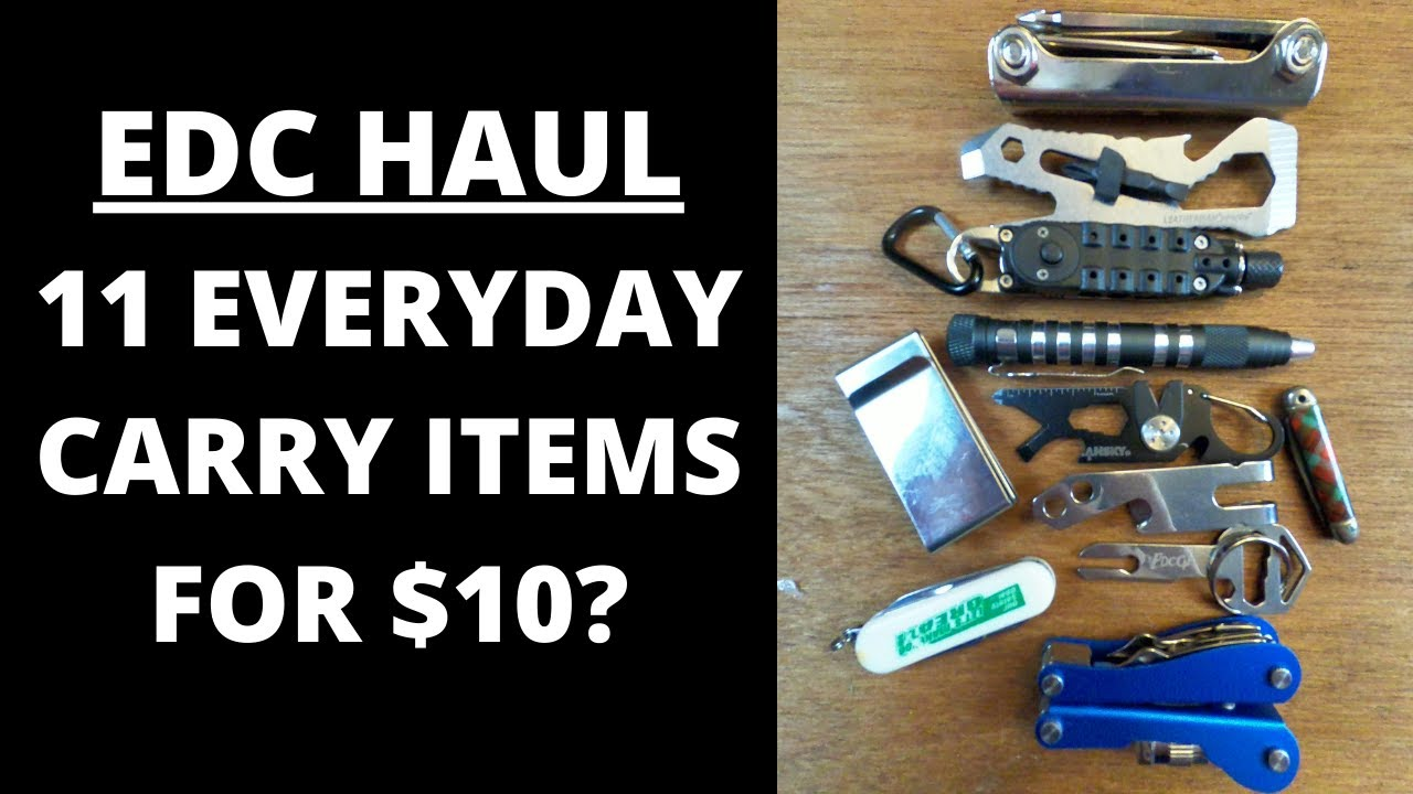 EDC HAUL, 11 EVERYDAY CARRY ITEMS FOR ONLY $10 OFF EBAY.