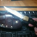 My EVERYDAY EVERYDAY CARRY DAD'S OLD BUCK 110 QUICK DRAW HOLSTER!!!