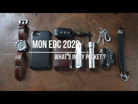 Mon EDC 2020 (everyday carry) - What's in my pockets ? (Français)