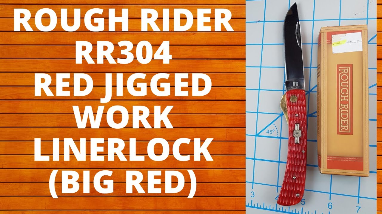 ROUGH RIDER RR304 WORK LINER LOCK. AKA BIG RED, EVERYDAY CARRY, EDC, BUDGET