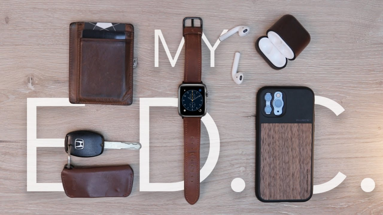What's in my Pockets - Brown Leather EDC (Everyday Carry)